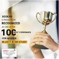 Sodexo gets listed as '100 Best Companies for Women' in 2017 BCWI Study