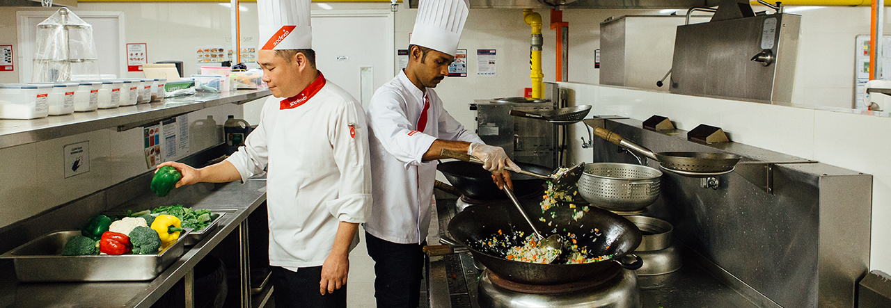 Sodexo chefs preparing food